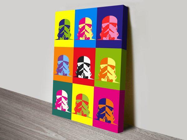 Star Wars Coloured Pop Art canvas print