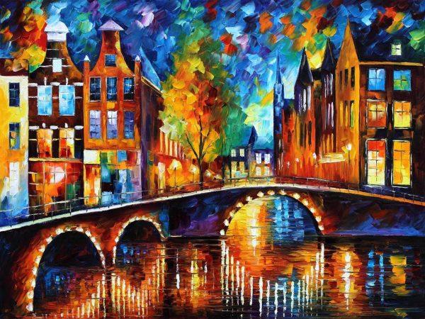 The Bridges of Amsterdam Artwork on Canvas