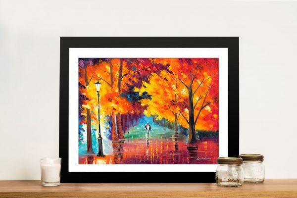 Autumn Passion Leonid afremov Framed Wall Art