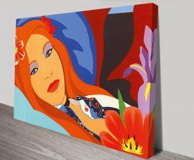 Tom Wesselmann Lulu Art Print on Canvas