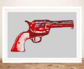 Andy warhol gun Framed Print
