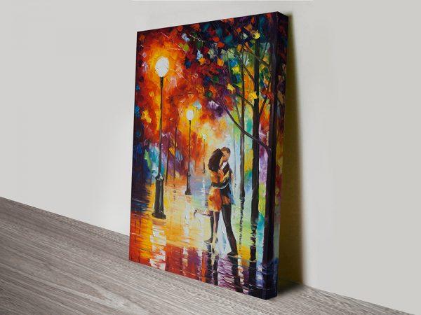 Dancing In The Rain Leonid Afremov Canvas Art Print