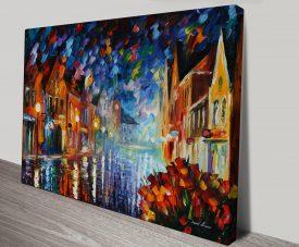 Frozen Night Leonid Afremov Canvas Wall Art Print