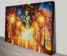 Goodbye to Feelings Afremov Artwork on Canvas