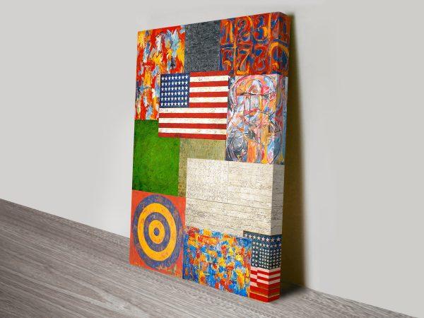 Jasper Johns Collage Pop Art Canvas Print