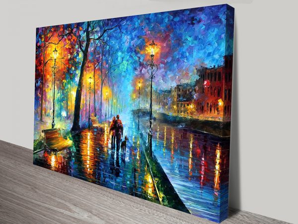 Melody Of The Night Leonid Afremov Wall Art Print