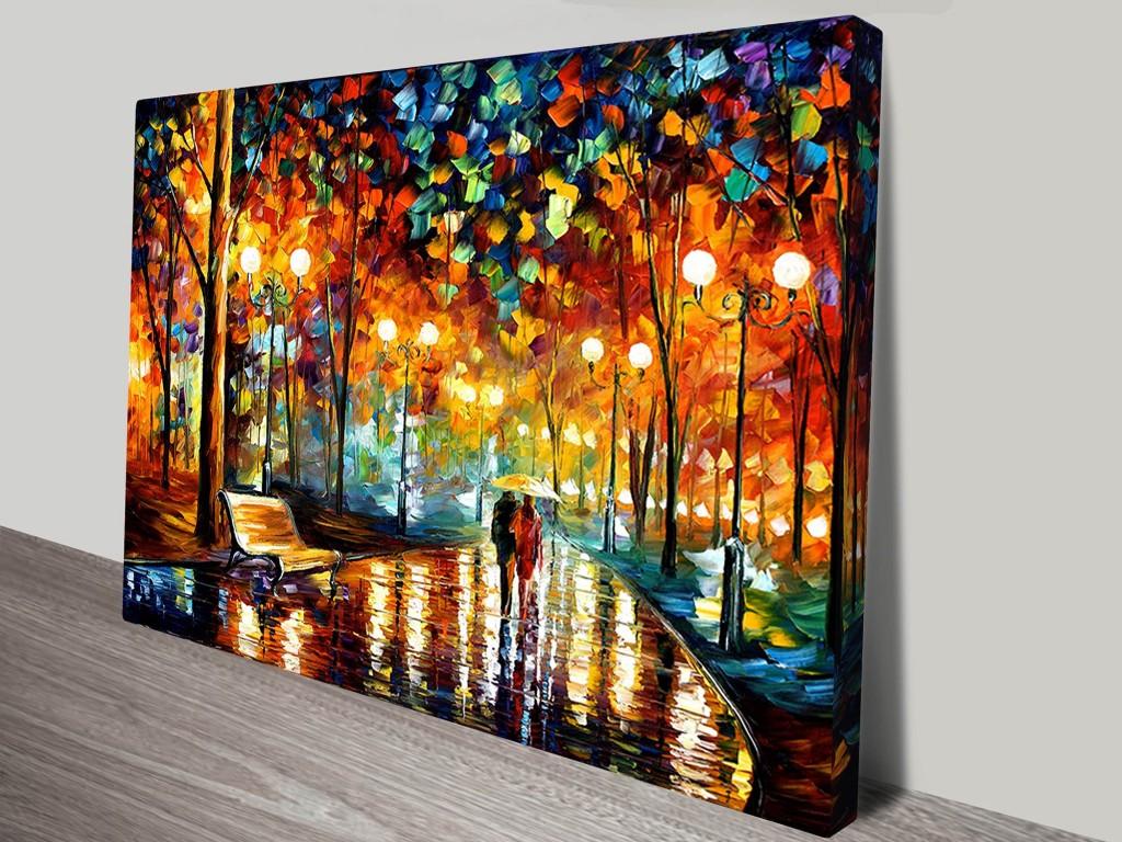 Rain rustle leonid afremov canvas art print for Modern art prints posters
