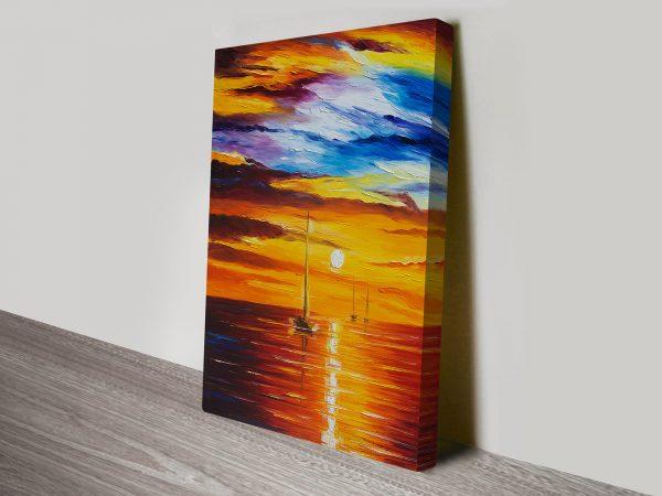 Sea of Movement Afremov Canvas Print Australia