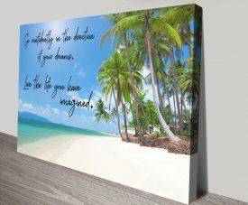 Go Confidently Motivational Canvas Art
