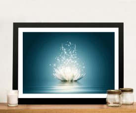 Lotus Flower Moonlight Framed Wall Art