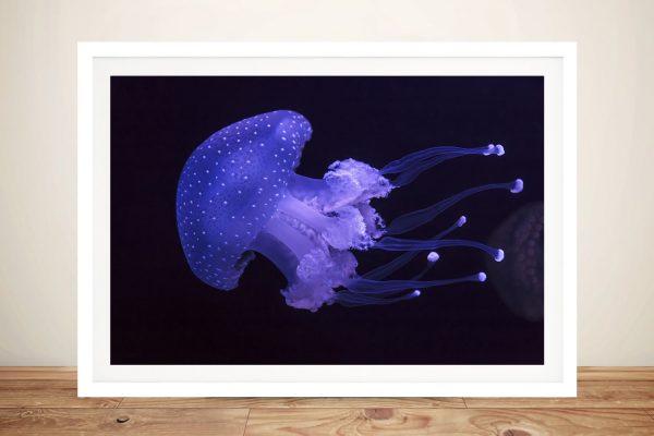 Framed Jellyfish Magical Print on Canvas