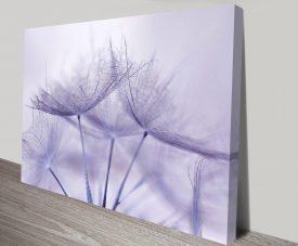 Violet Fronds Floral Canvas Print Australia