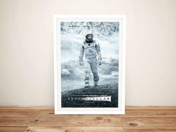 Framed Interstellar Canvas Movie Poster