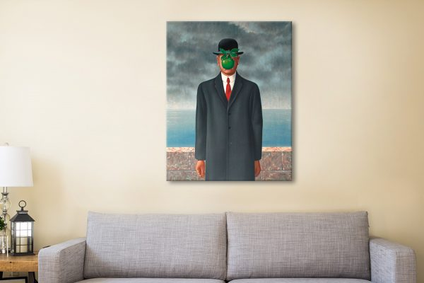 Magritte son of man Canvas Artwork
