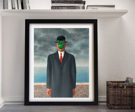 Magritte Son of man Framed Wall Print