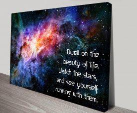 Dwell Beauty Inspirational Quotes Art Print Australia