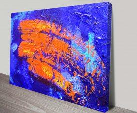 Orange Streak Canvas Prints Australia