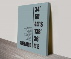 Adelaide Duck Egg Blue Coordinates Ready to Hang Print