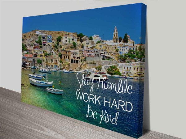 Stay Humble Quote Inspire Ready to Hang Canvas Art Print