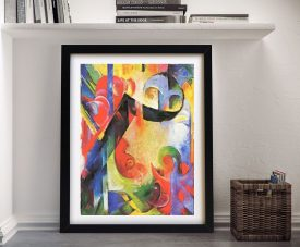 Broken Forms by Franz Marc Framed Wall Art