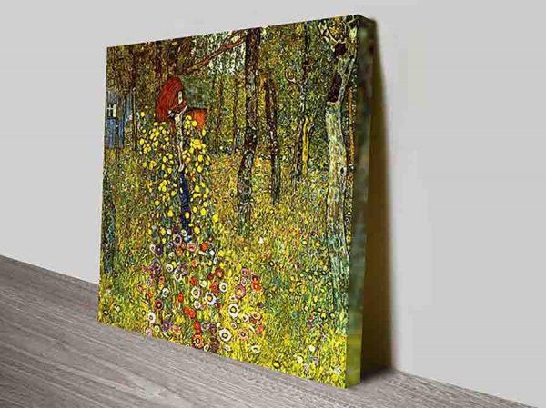 Garden with Crucifix by Gustav Klimt Symbolism Framed Art