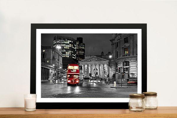 London Red colour Framed Wall Art