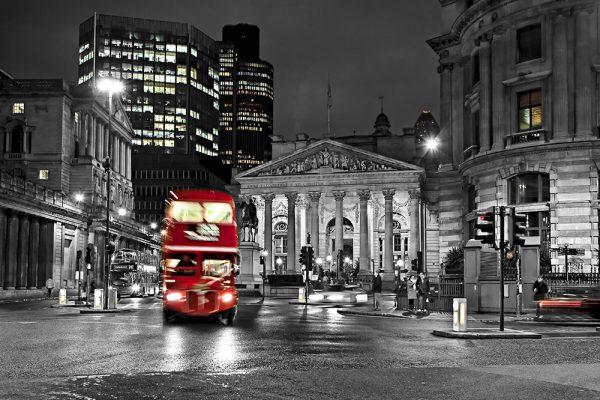 London Red Double Decker Bus Wall Art