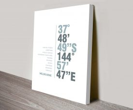 Melbourne White Coordinates Decorative Places Print