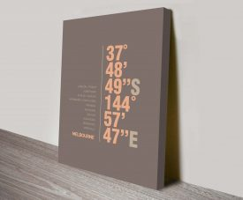 Melbourne Brown Coordinates Places Decorative Gift Wall Art