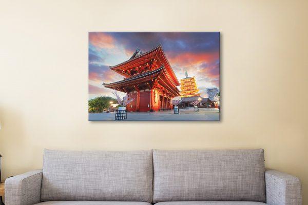 Ready to Hang Print of Senso-ji Temple for Sale