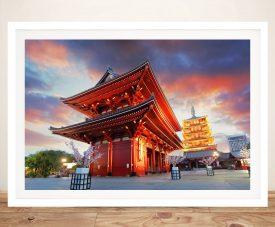 Senso-ji Temple Framed Print on Canvas