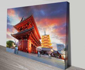 Senso-ji Temple Tokyo Japanese Pagoda Travel Art Prints