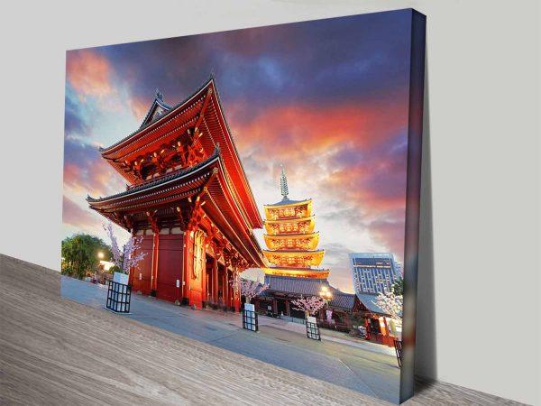 Senso-ji Temple Japanese Travel Wall Art