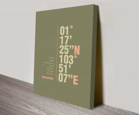Singapore Khaki Green Coordinates Ready to Hang Art Print