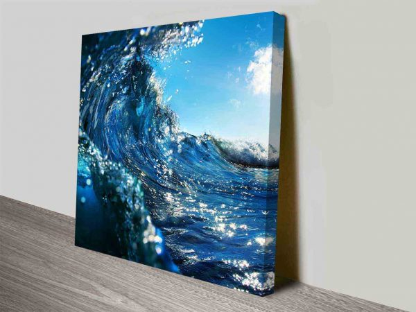 Breaking Waves Series No. 1 Seascape Canvas Art Print Oz