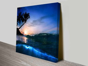 Breaking Waves Series No. 12 Night Time Seascape Canvas