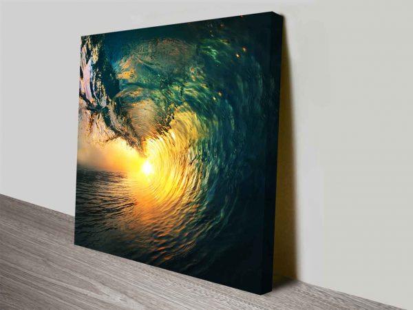 Breaking Waves Series No. 8 Sun Through Wave Wall Art Print