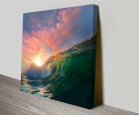 Breaking Waves Series No. 9 Sea Spray Morning Sky Wall Art