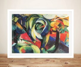 The Mandrill Franz Marc Abstract Mounted Wall Art Print