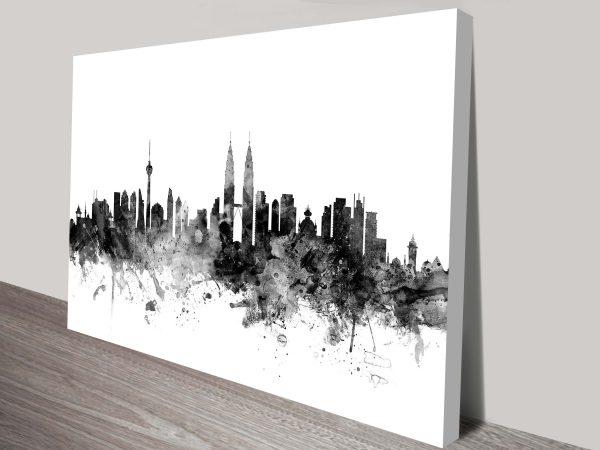Kuala Lumpur Skyline Graphic Michael Tompsett Wall Art