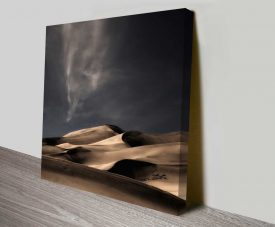 desert sand dunes canvas wall art print