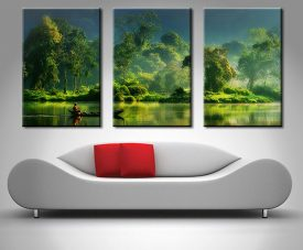 jungle lifelines triptych 3 panel wall art