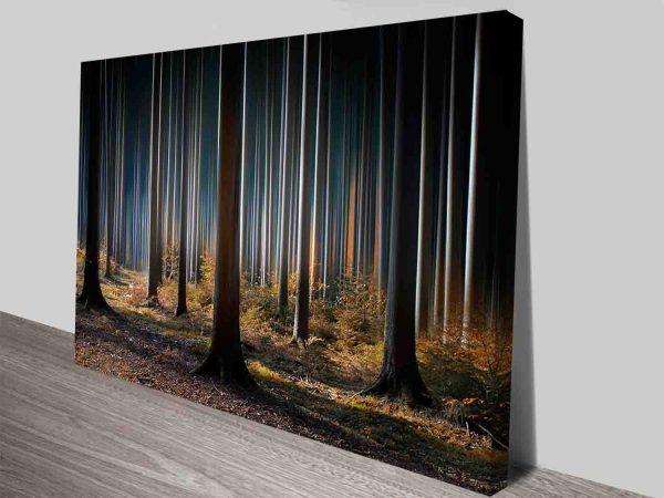 the still forest canvas print wall art
