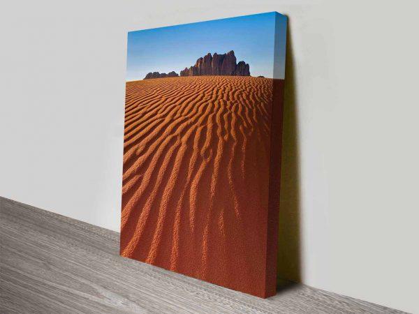 the desert mountain canvas wall art print