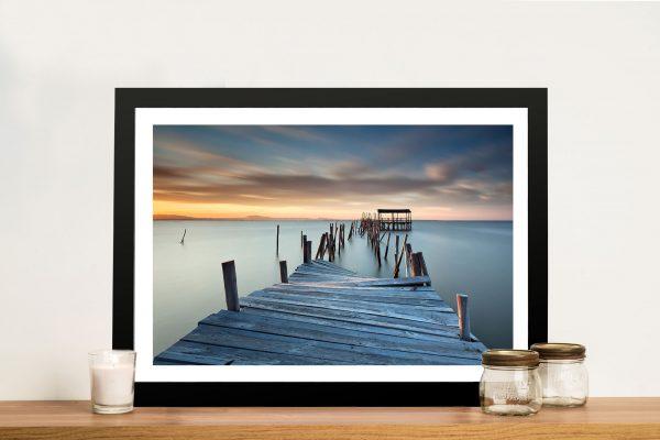 Sunken Pier Art Print on Canvas Wall Art Picture Au