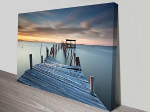 sunken pier canvas wall art print