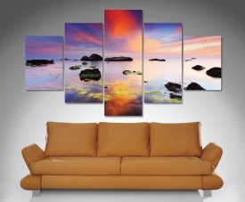 Perfect Sunrise Split-Diamond Canvas Art Set