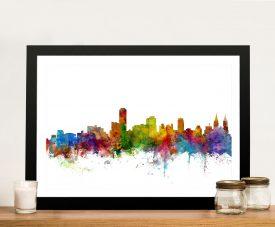 Adelaide Australia Skyline Framed Wall Art Print