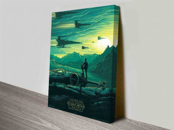 star wars the force awakens poster wall art canvas
