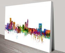 birmingham england skyline michael tompsett wall art canvas
